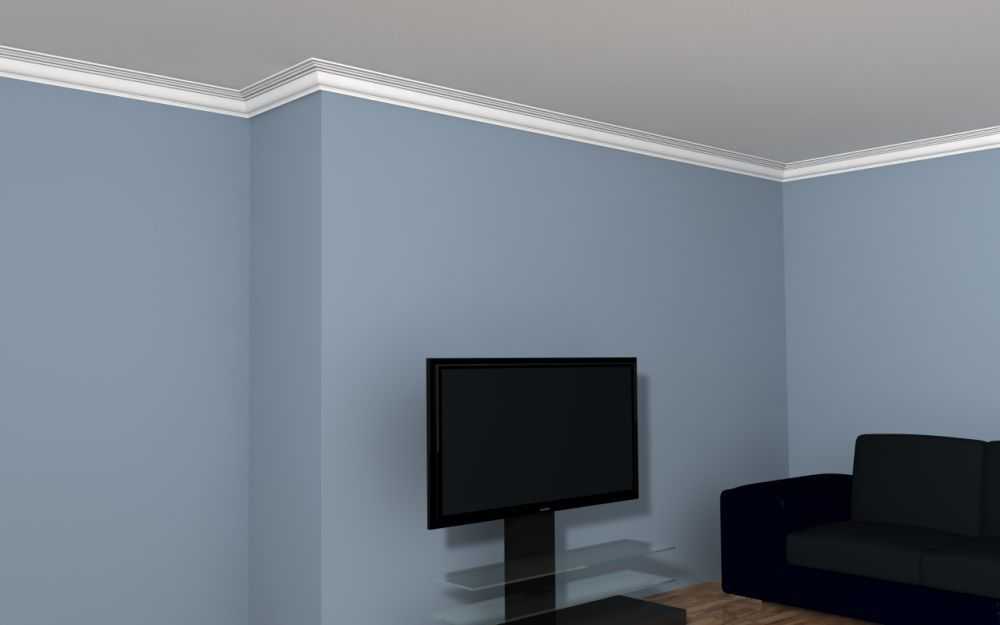 deckenabschlussleiste styropor lp7 deckenstuck. Black Bedroom Furniture Sets. Home Design Ideas
