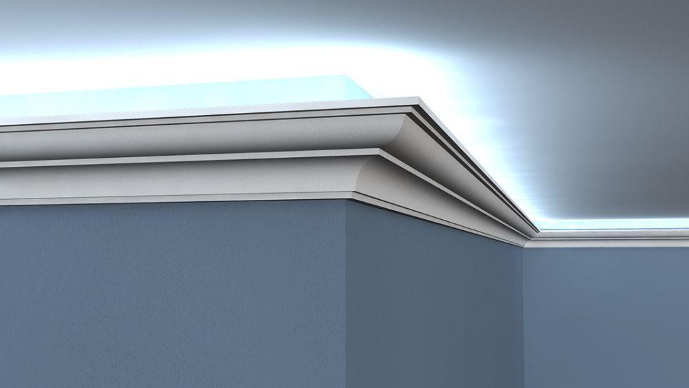 lichtleiste led lo 18 stuckleiste led. Black Bedroom Furniture Sets. Home Design Ideas