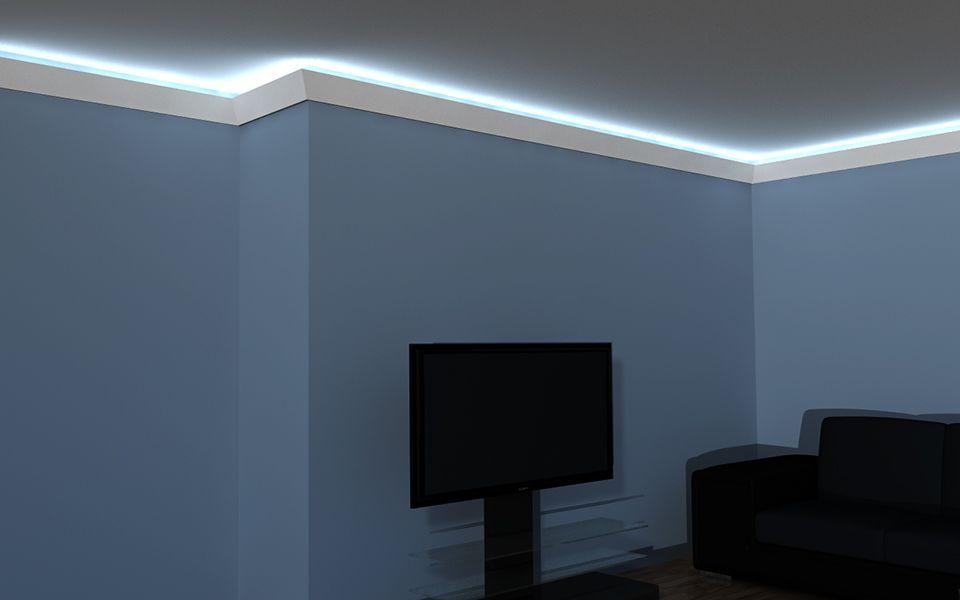 lichtleisten set stuckleiste led lo 2. Black Bedroom Furniture Sets. Home Design Ideas