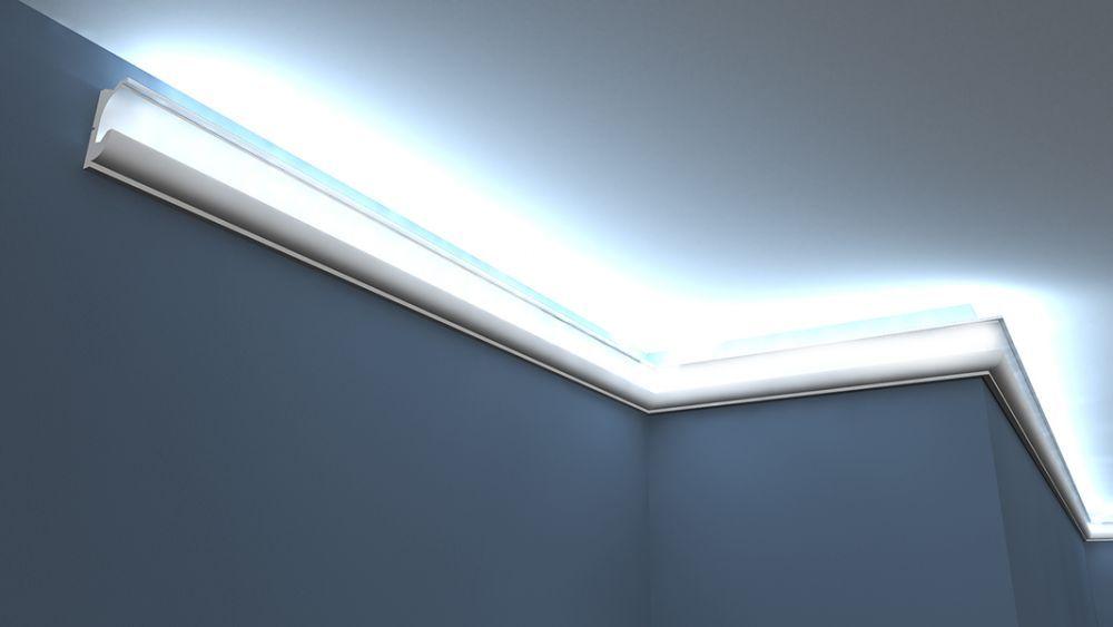 lichtleisten set stuckleiste f r led lo 23. Black Bedroom Furniture Sets. Home Design Ideas