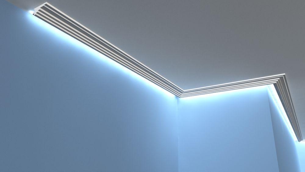 lichtleiste lo16 led indirekte beleuchtung. Black Bedroom Furniture Sets. Home Design Ideas