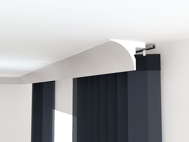 vorhangschiene decke lko6a stuckleiste blende lko6a. Black Bedroom Furniture Sets. Home Design Ideas