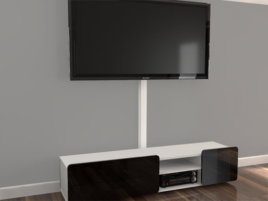 Kabelabdeckung wand tv rund von decor system bestellen - Kabelabdeckung wand tv ...