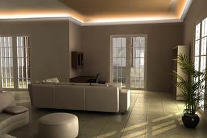 Indirekte Beleuchtung Decke mit LO-11a