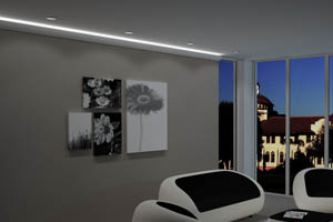 LED deckenprofil indirekte beleuchtung LO-1