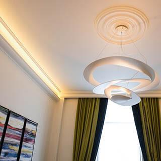 Deckenleiste und LedStrips Beleuchtung