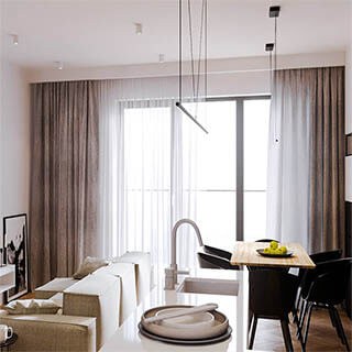 Gardinenblende im Wohnzimmer