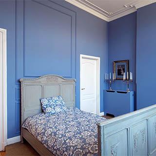 Schlafzimmer Stuckprofile stilvolle Decke