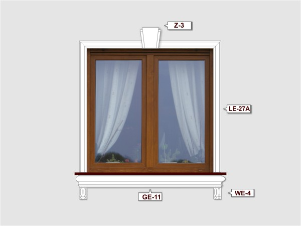 Fassadenset mit gesims GE-11-2