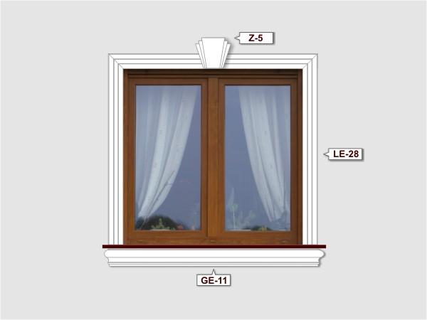 Fassadenset mit gesims GE-11-3
