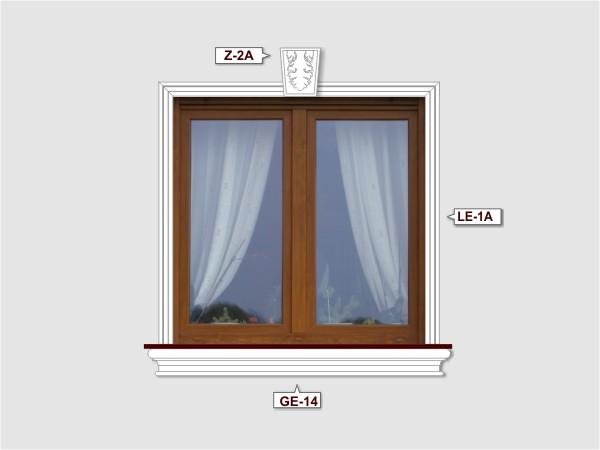 Fassadenset mit gesims GE-14-3