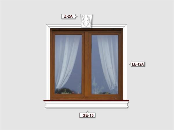 Fassadenset mit gesims GE-15-2