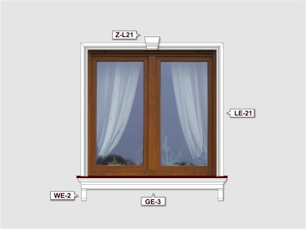Fassadenset mit gesims GE-3-2