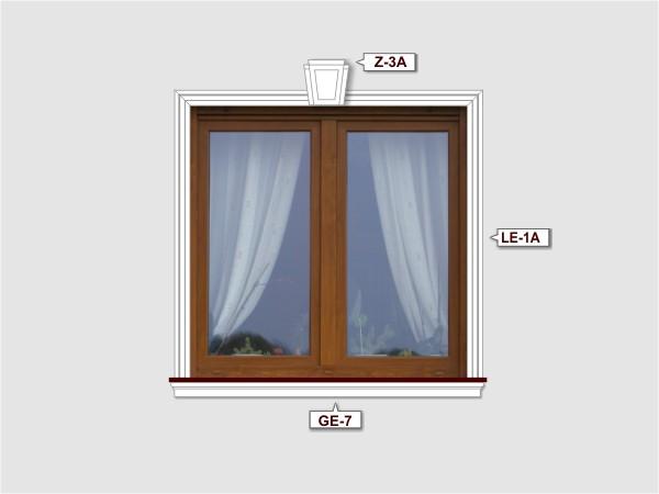 Fassadenset mit gesims GE-7-3