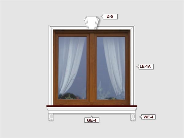 Fassadenset mit gesims GE-4-3