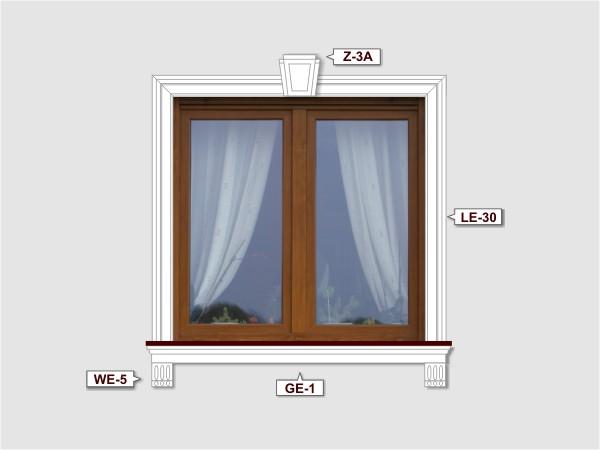 Fassadenset mit gesims GE-1-2