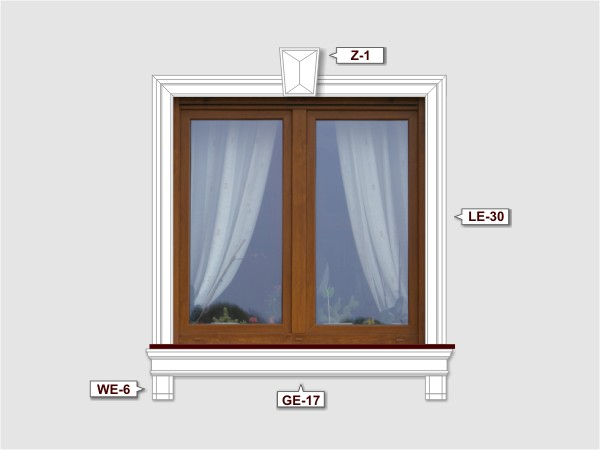 Fassadenset mit gesims GE-17-3