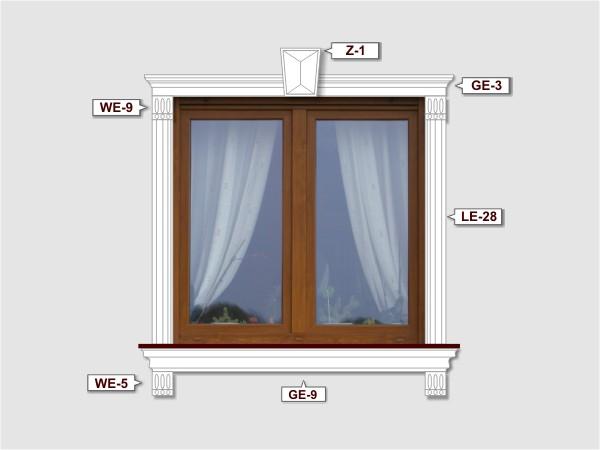 Fassadenset mit gesims GE-9-3