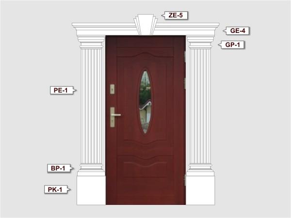Pilaster Basen BP-1/250 fassadenset 3