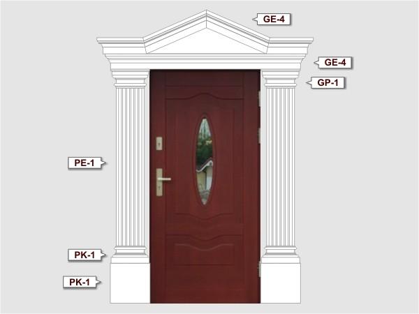 Pilaster Basen BP-1/250 fassadenset 4