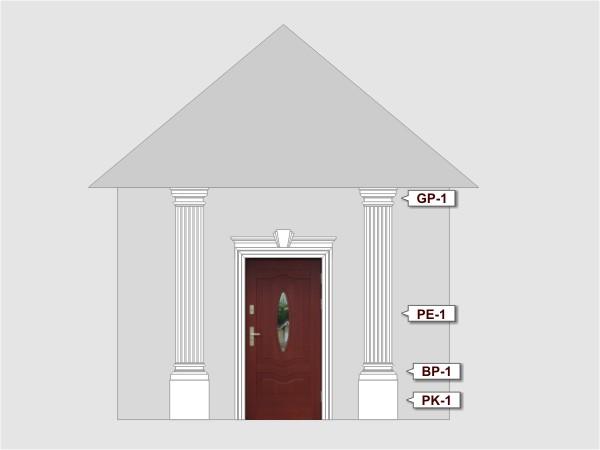 Pilaster Basen BP-1/250 fassadenset 6