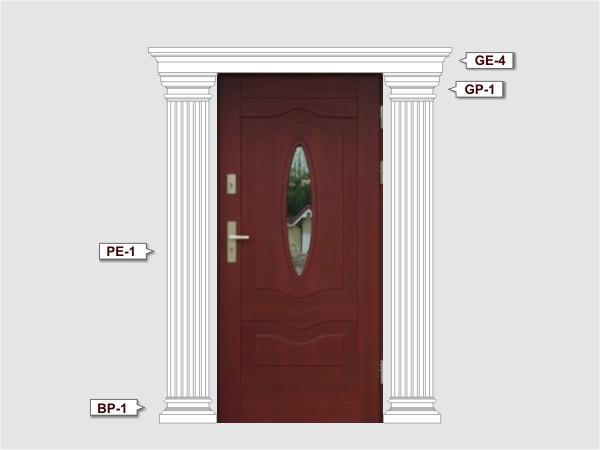 Pilaster Basen BP-1/250 fassadenset 1
