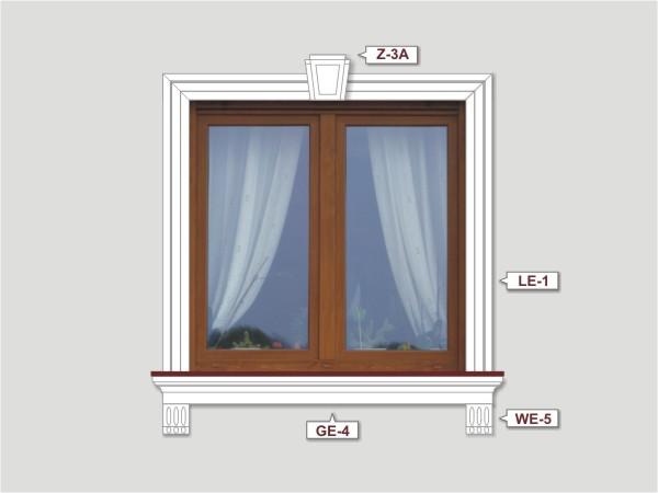 Fassadenset mit fassadenleiste le-1-2