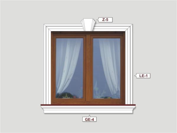 Fassadenset mit fassadenleiste le-1-3