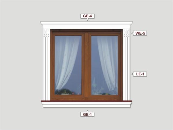 Fassadenset mit fassadenleiste le-1-4