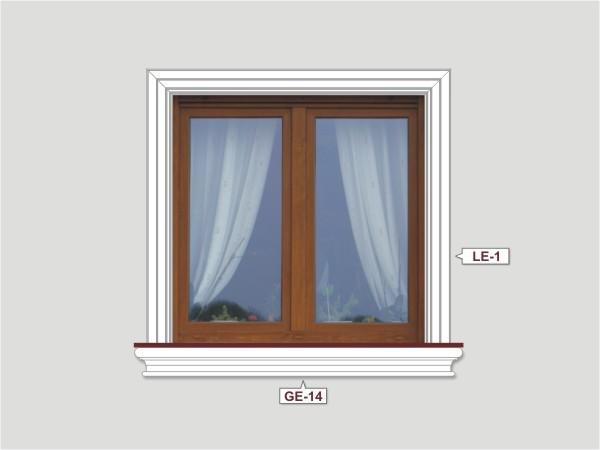 Fassadenset mit fassadenleiste le-1-1