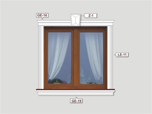 Fassadenset mit fassadenleiste le-11-2