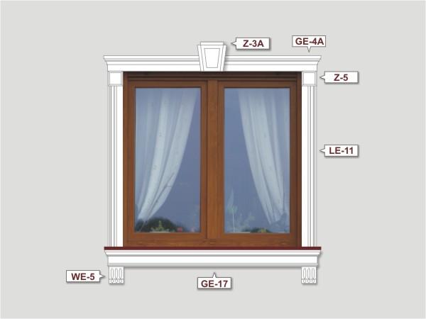 Fassadenset mit fassadenleiste le-11-3