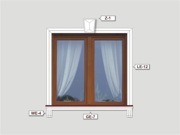Fassadenset mit fassadenleiste le-12-1