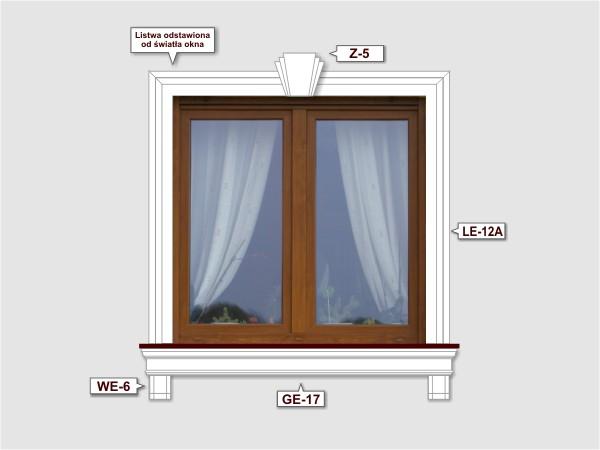 Fassadenset mit fassadenleiste le-12a-1