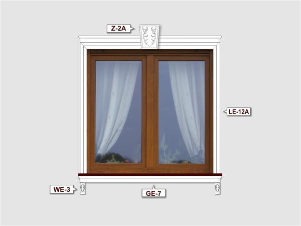 Fassadenset mit fassadenleiste le-12a-2