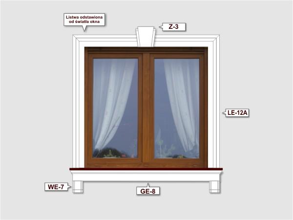 Fassadenset mit fassadenleiste le-12a-3