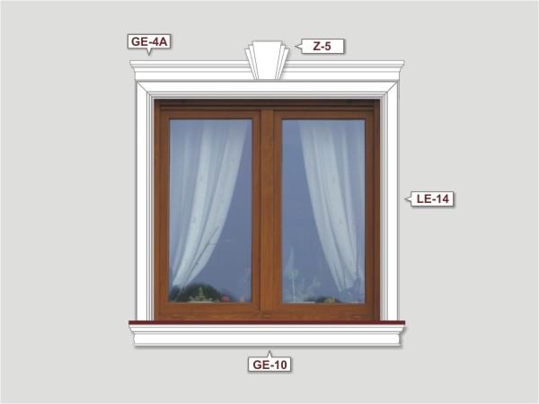Fassadenset mit fassadenleiste le-14-1