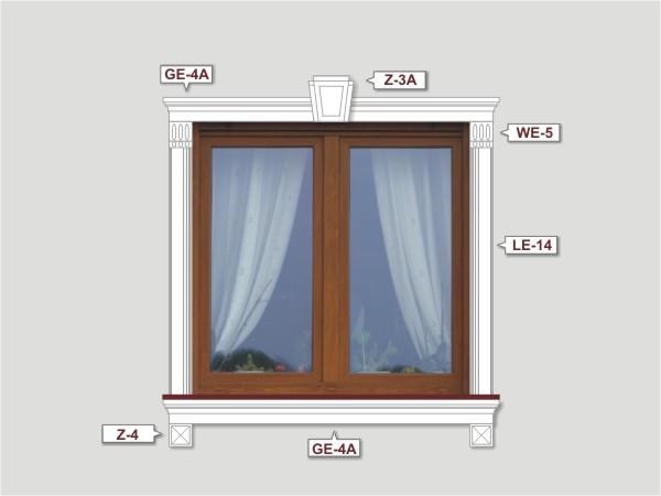 Fassadenset mit fassadenleiste le-14-2