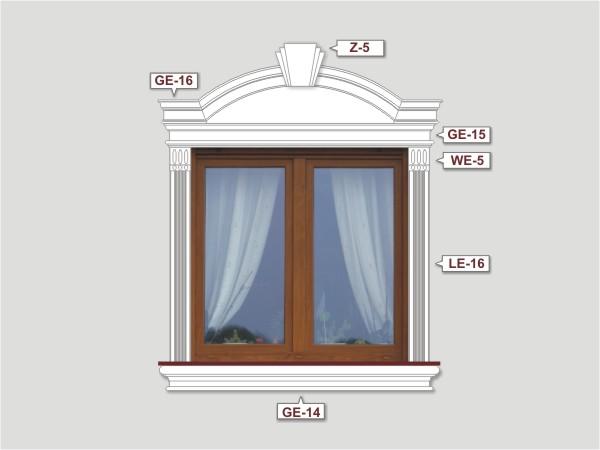 Fassadenset mit fassadenleiste le-16-2