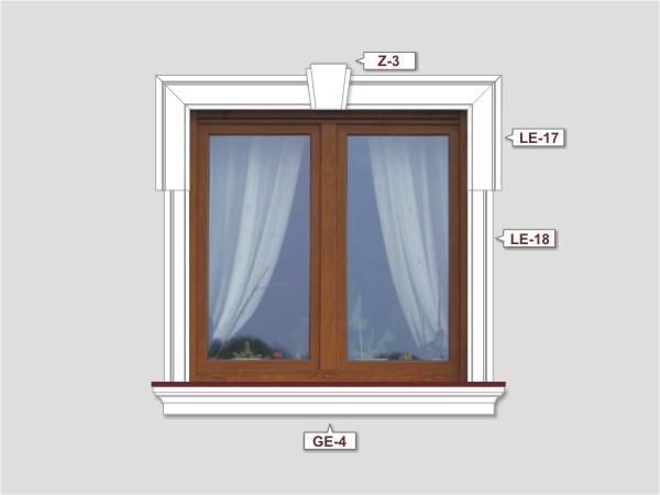 Fassadenset mit fassadenleiste le-17-1