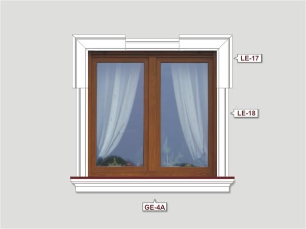 Fassadenset mit fassadenleiste le-17-3