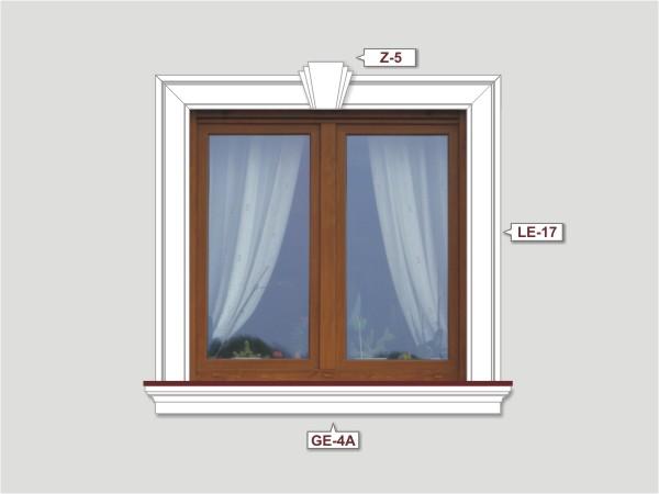 Fassadenset mit fassadenleiste le-17-2