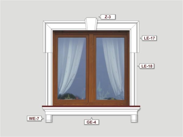 Fassadenset mit fassadenleiste le-18-1