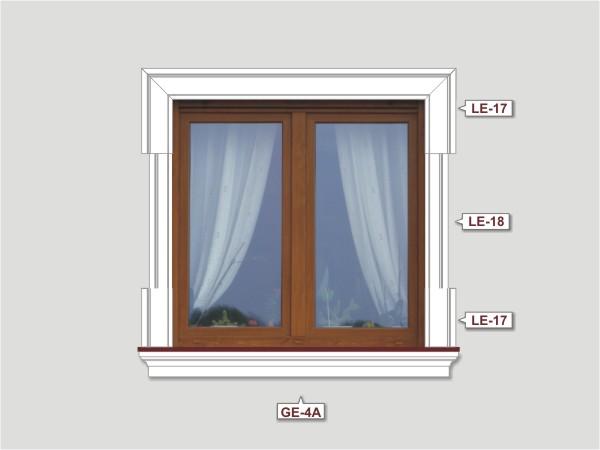 Fassadenset mit fassadenleiste le-18-2