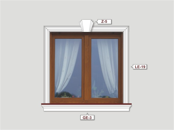 Fassadenset mit fassadenleiste le-19-1