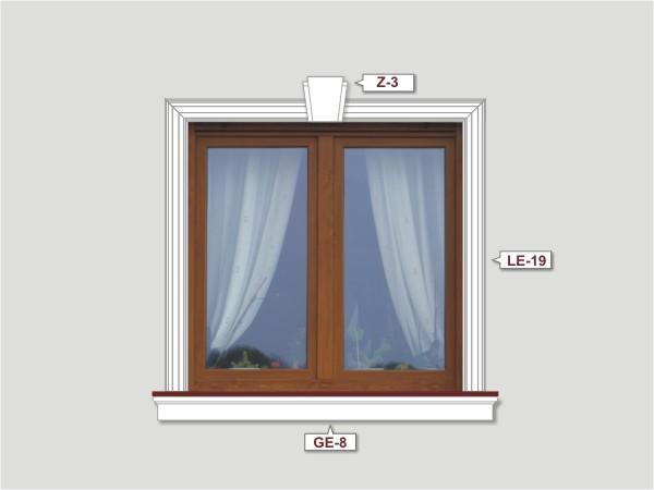 Fassadenset mit fassadenleiste le-19-2
