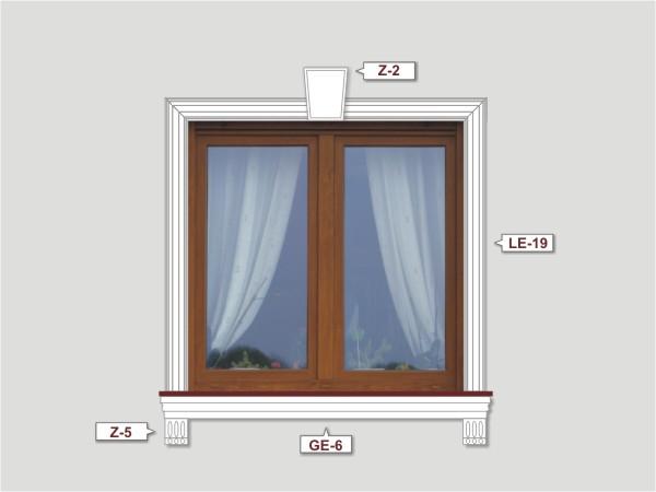 Fassadenset mit fassadenleiste le-19-3