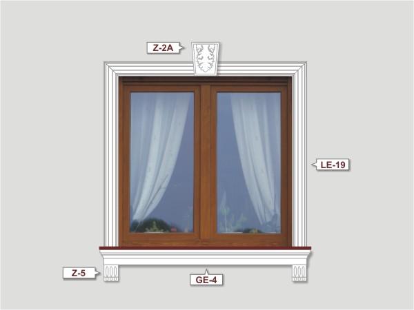 Fassadenset mit fassadenleiste le-19-4