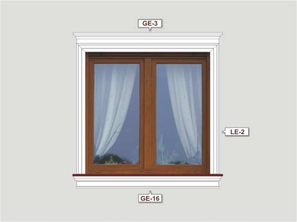 Fassadenset mit fassadenleiste le-1a-2