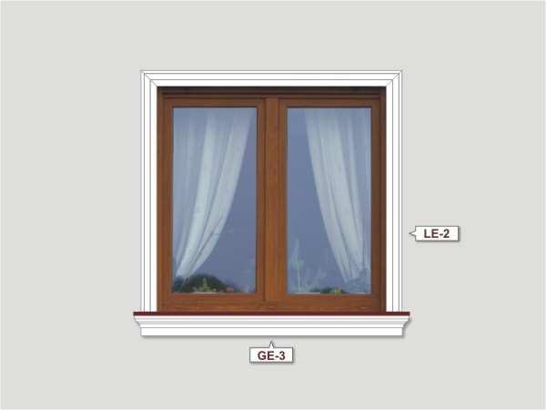 Fassadenset mit fassadenleiste le-1a-4